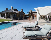 New Wine Country Estate Pool and Patio