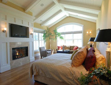 New Wine Country Estate Master Bedroom