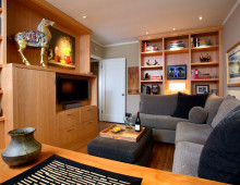Bungalow Remodel and Interior Design Media Room